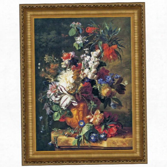 Bouquet Of Flowers In An Urn, 1724, Canvas Replica Painting: Grande