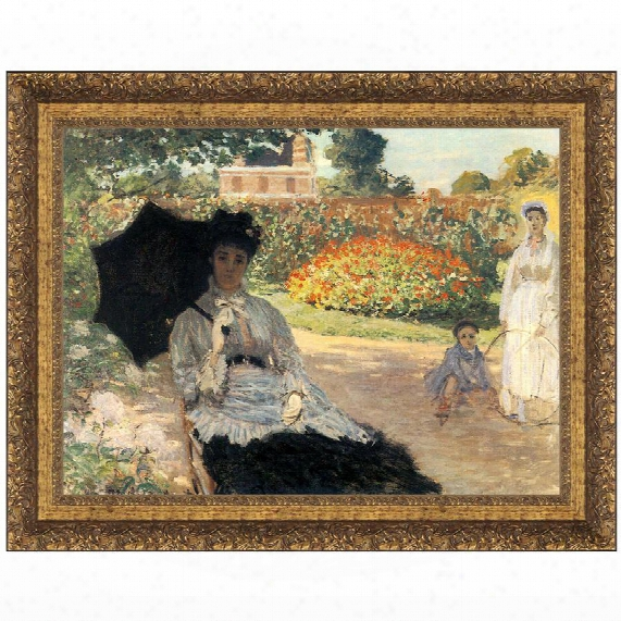 Camille In The Garden With Jean And His Nurse, 1873: Grande