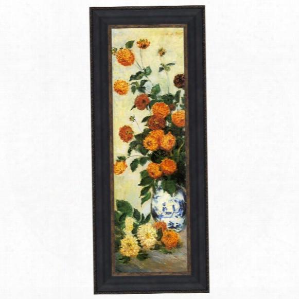 Dahlias, 1883: Canvas Replica Painting: Grande