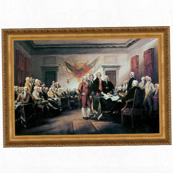 Declaration Of Independence, 1817 Canvas Replica Painting: Grande
