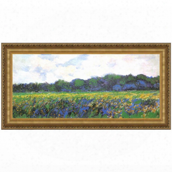 Field Of Yellow Irises At Giverny, 1887: Canvas Replica Painting: Grande