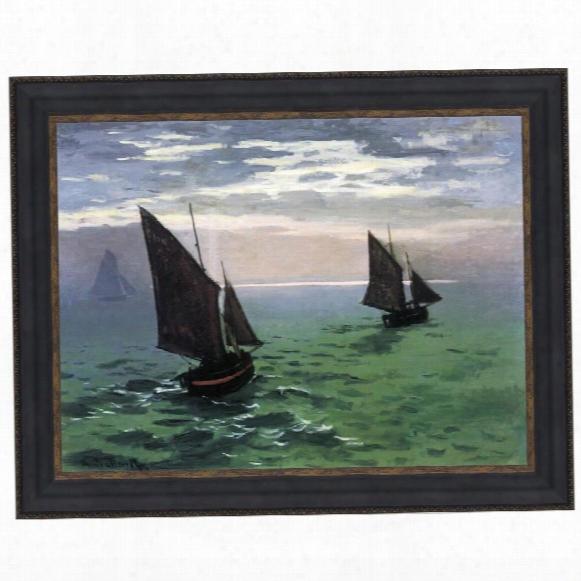 Fishing Boats At Sea, 1868: Canvas Replica Painting: Grande