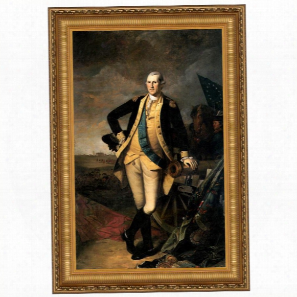 George Washington At The Battle Of Princeton, 1781 Canvas Replica Painting: Grande