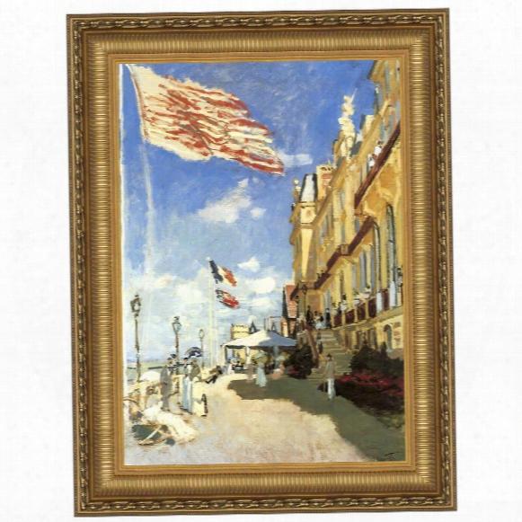 Hotel Des Roches Noires, Trouville, 1870: Canvas Replica Painting: Grande