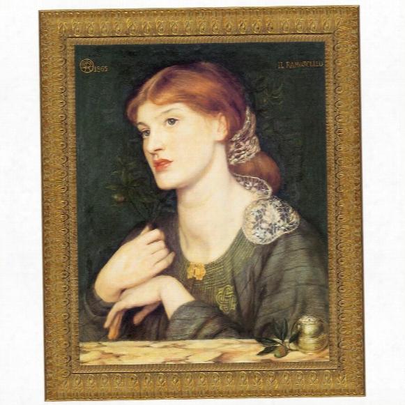 Il Ramoscello, Bella E Buona, 1865, Canvas Replica Painting : Small