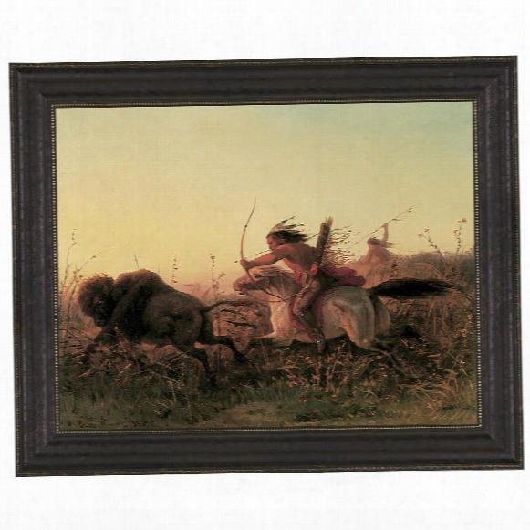 Indian Buffalo Hunt, 1856 Canvas Replica Painting: Grande