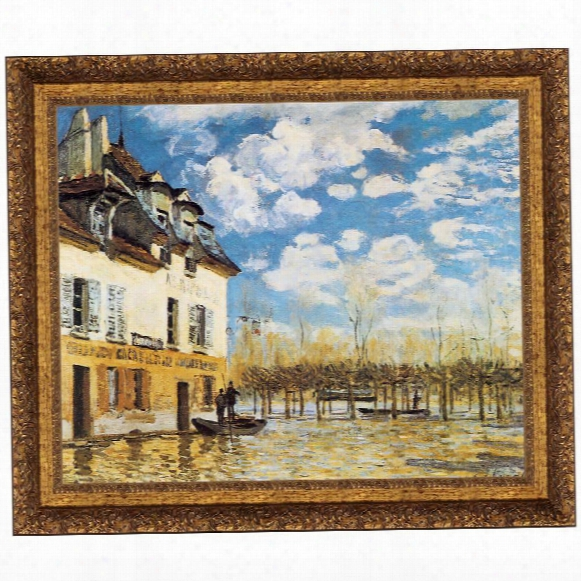 L'inondation A Port-marly, 1876, Canvas Replica Painting: Grande