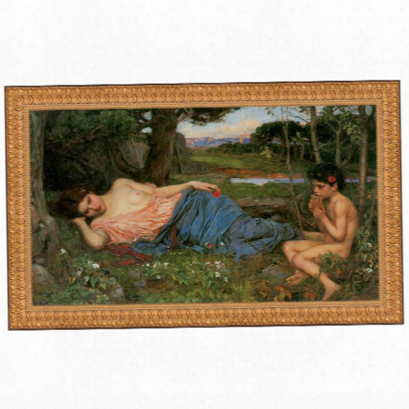 Listen To My Sweet Pipings, 1911, Canvas Autograph Copy Painting: Grande
