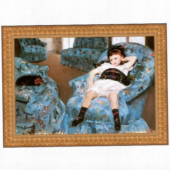 Little Girl In A Blue Armchair, 187 8canvas Replica Painting: Grande