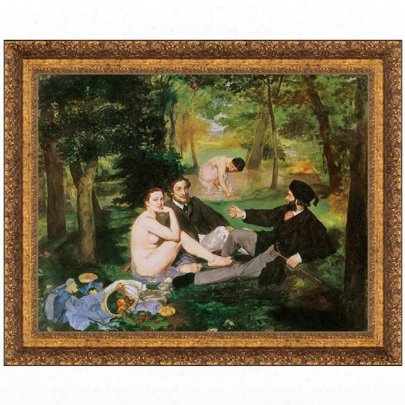 Luncheon On The Grass, 1863, Canvas Replica Painting: Grande