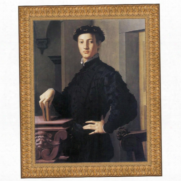 Portrait Of A Young Man, 1530: Canvas Replica Painting: Grande