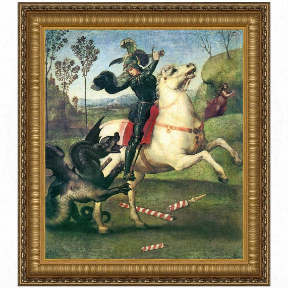 Saint George Fighting The Dragon, 1505, Canvas Replica Painting: Grande