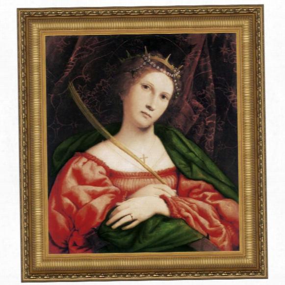 St. Catherine Of Alexandria, C. 1523: Canvas Replica Painting: Grande