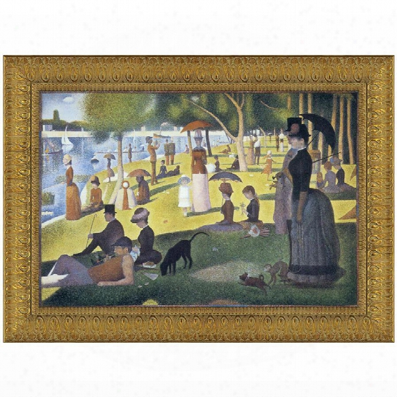 Sunday Afternoon On The Island Of La Grande-jatte, 1886, Canvas Replica Painting: Grande