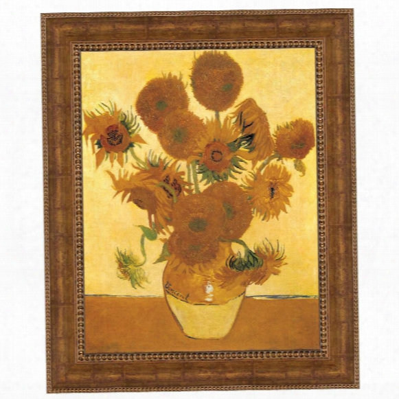 Sunflowers, 1888: Canv As Replica Painting: Grande
