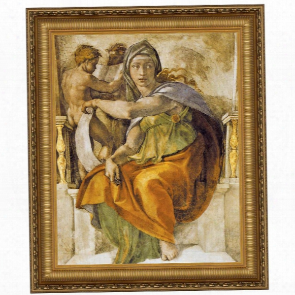The Delphic Sibyl, 1509, Canvas Replica Painting: Small