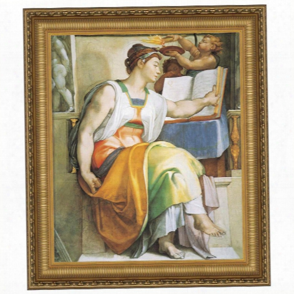 The Erythraean Sibyl, C. 1509: Canvas Replica Painting: Grande