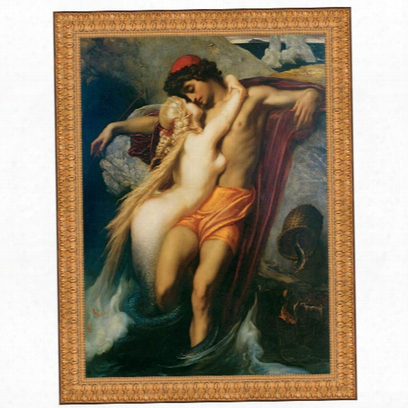The Fisherman And The Syren, 1858, Canvas Replica Painting: Grande
