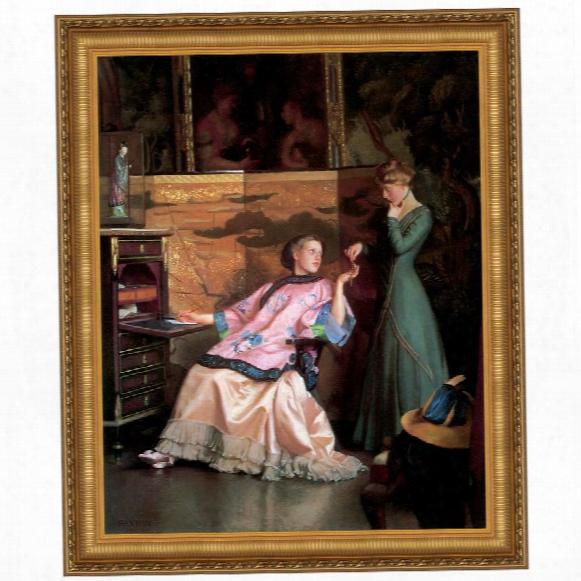 The New Neccklace, 1910 Canvas Replica Painting: Grande