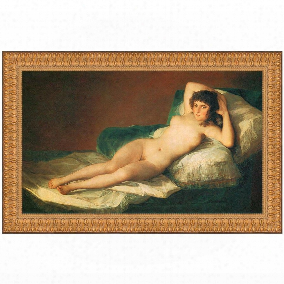 The Nude Maja (la Maja Desnuda), 1800, Canvas Replica Painting: Grande