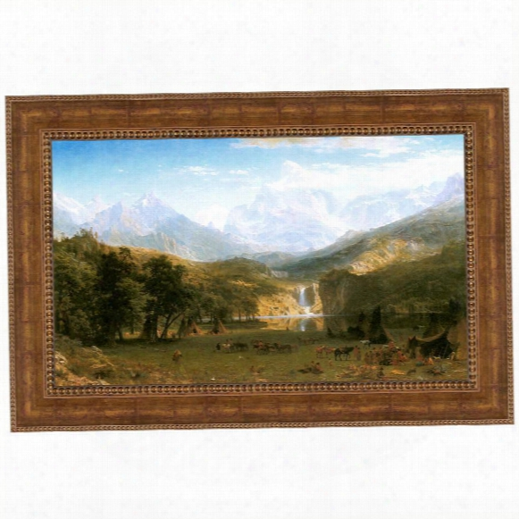 The Rocky Mountains, Lander's Peak, 1863 Canvas Replica Painting: Grande