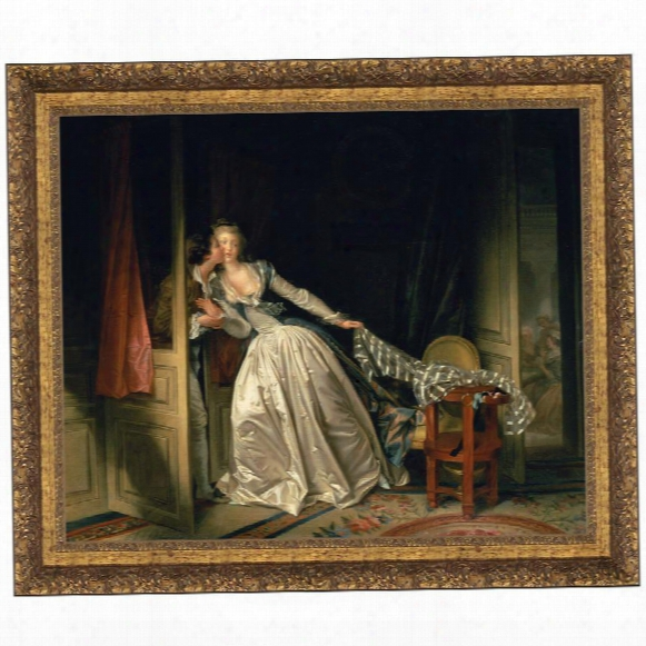 The Stolen Kiss, C. 1788: Canvas Replica Painting: Grande