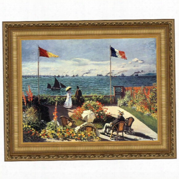 The Terrace At Sainte-adresse, 1867: Canvas Replica Painting: Grande