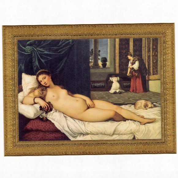 The Venus Of Urbino, 1538, Canvas Replica Painting: Grande