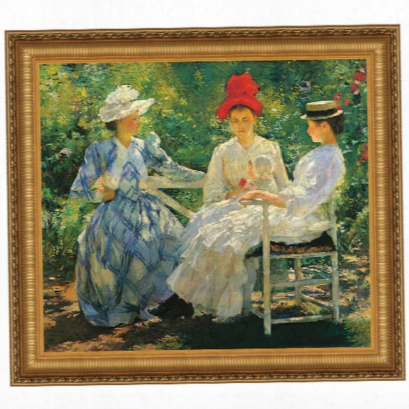 Three Sisters A Study In June Sunlight, 1890 Canvas Replica Painting: Small