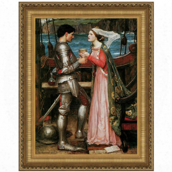 Tristan And Isolde Sharing The Potion, 1916, Canvas Replica Painting: Grande