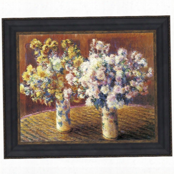 Two Vases Of Chrysanthemums, 1888: Canvas Replica Painting: Grande