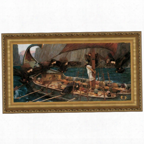 Ulysses And The Sirens, 189,1 Canvas Replica Painting: Grande