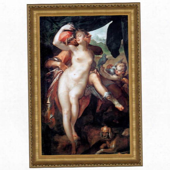 Venus And Adonis, 1597: Canvas Replica Painting: Grande