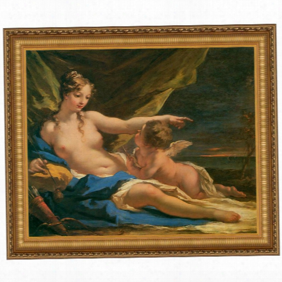 Venus And Cupid, 1716, Canvas Replica Painting: Grande