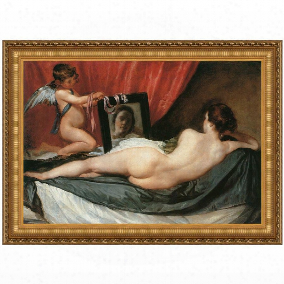 Venus At Her Mirror (the Rokeby Venus), 1651, Canvas Replica Painting: Grande