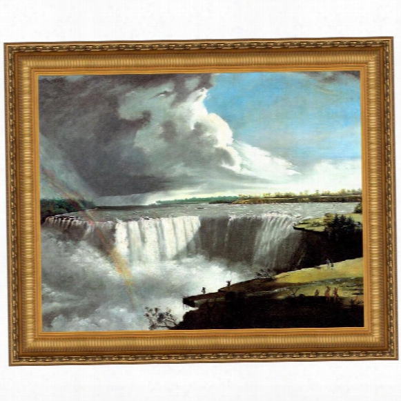 View Of The Western Branch Of The Falls Of Niagara, 1802 Canvas Replica Painting: Grande