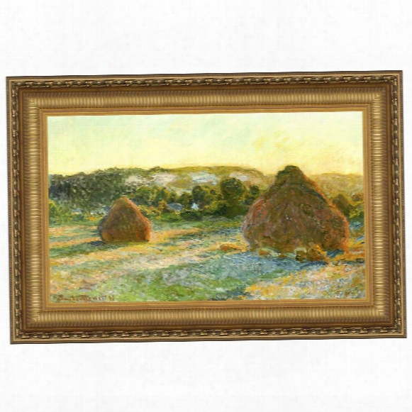 Wheatstacks (end Of Summer), 1891: Canvas Replica Painting: Grande