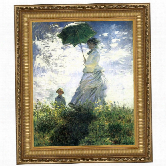 Woman With A Parasol, 1875: Canvas Replica Painting: Grande