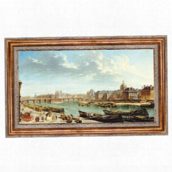 A View Of Paris Witu The Ile De La Citã¸, 1763: Canvas Replica Painting