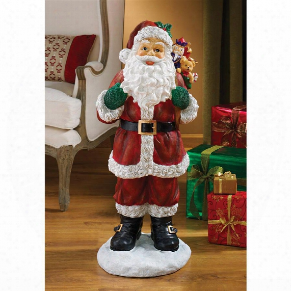 A Visit From Santa Claus Holiday Statue