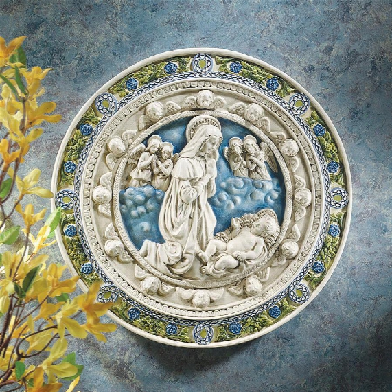 Adoration Of Thechild Roundel Wall Carve