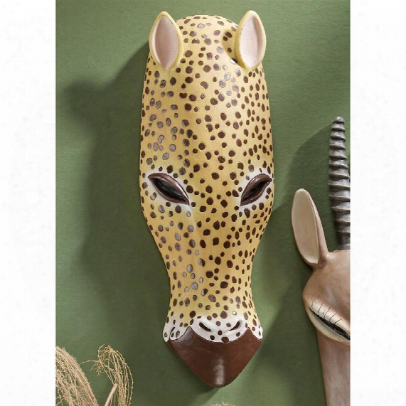 African Serengeti Tribal-style Animal Wall Mask: Jaguar