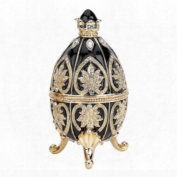 Alexander Palace Collection Faberge-style Enameled Egg: Nevsky