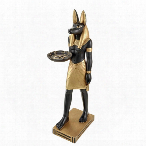 Anubis, Servant Of The Pharaohs Pedestal Table