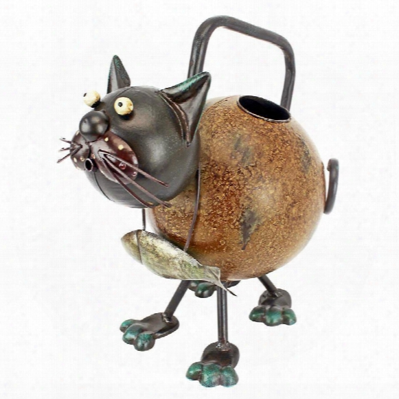 Back To The Farm Metal Cat Watering Can