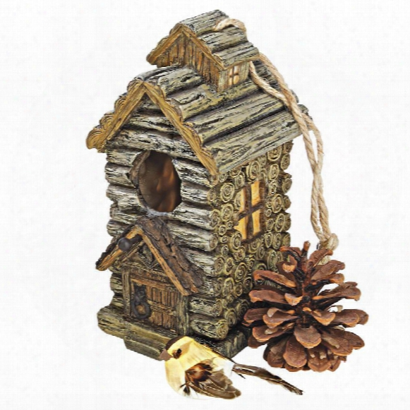 Backwoods Bird House Collection: Cabin