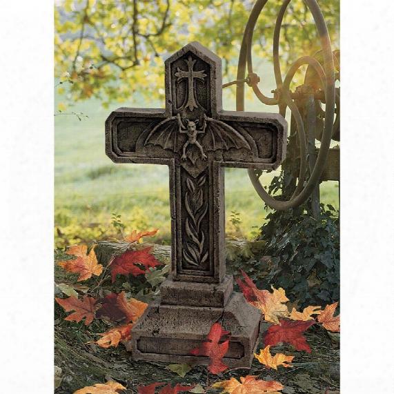 Balkan Vampire Blood Cross Statue