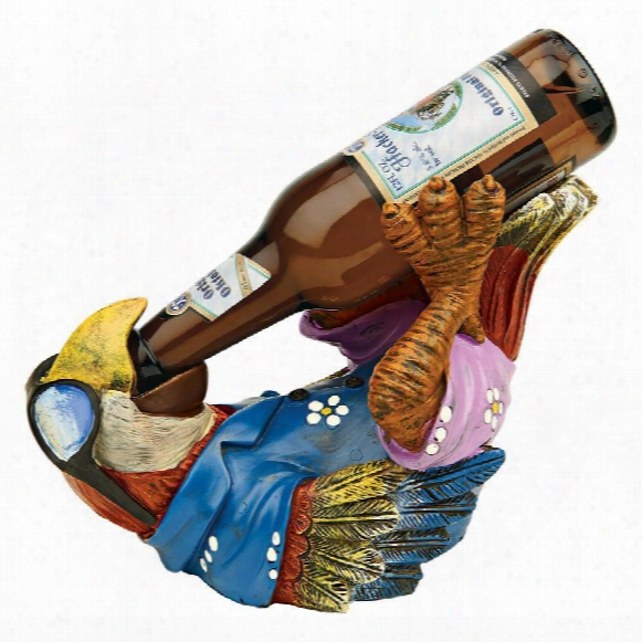 "Beer Buddy Tiki Parrot"" Statue"