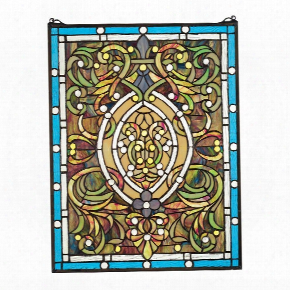 Beguiled In Blue Tiffany-style Stained Glass Window