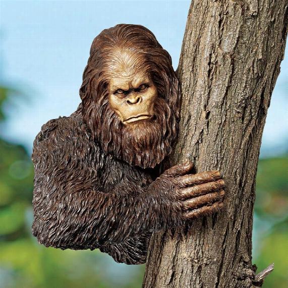 Bigfoot, The Bashful Yeti Tree Sculpture: Over 11 Inch Diameter Trees